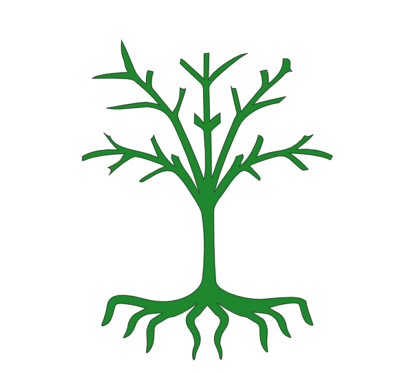 Tree with clip art. Roots clipart