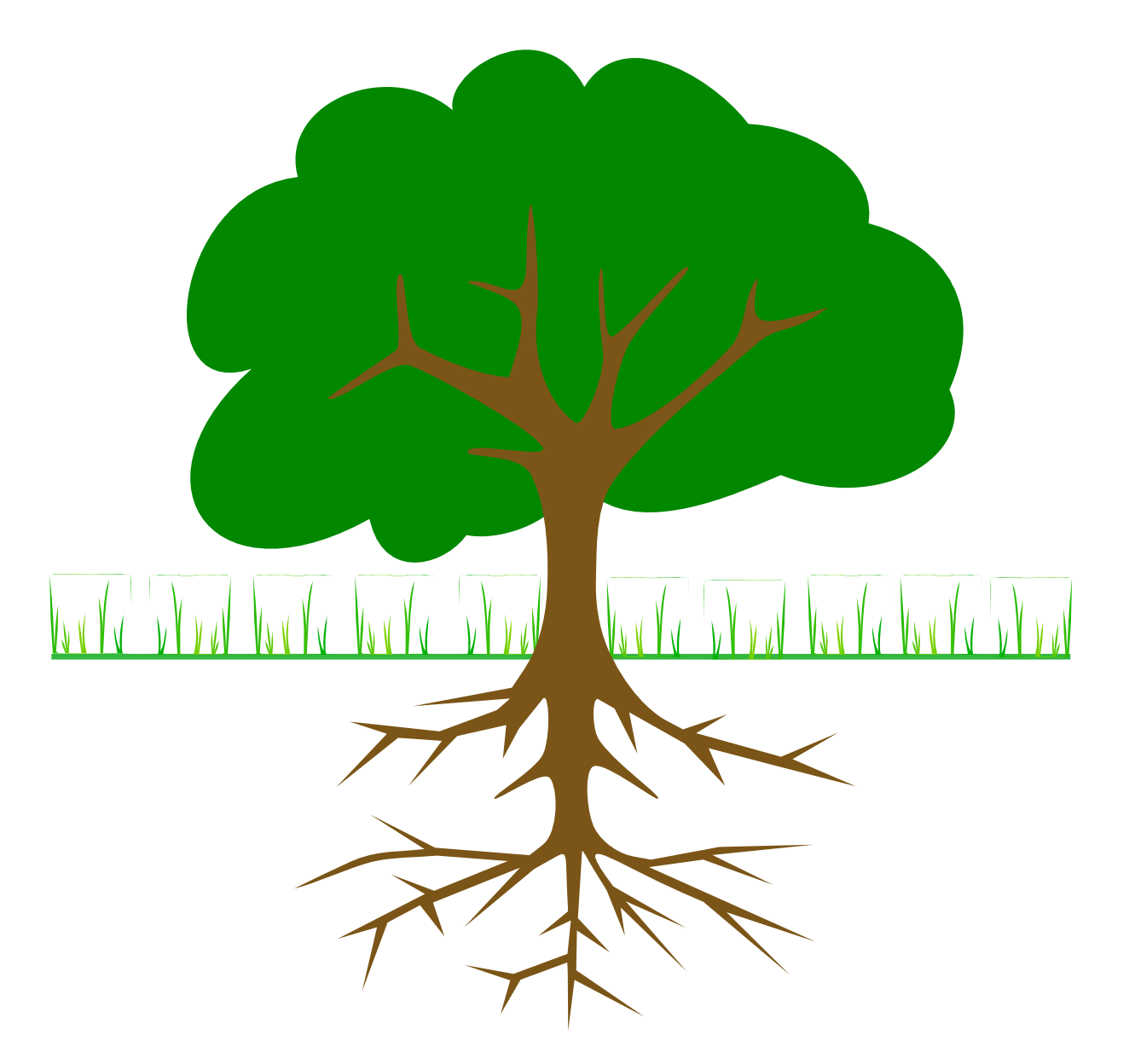 Flower with roots plant. Cycle clipart tree growth