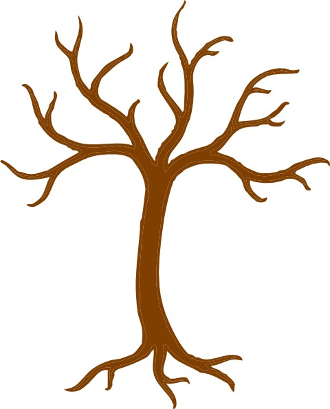 Roots clipart. Bare tree with clip