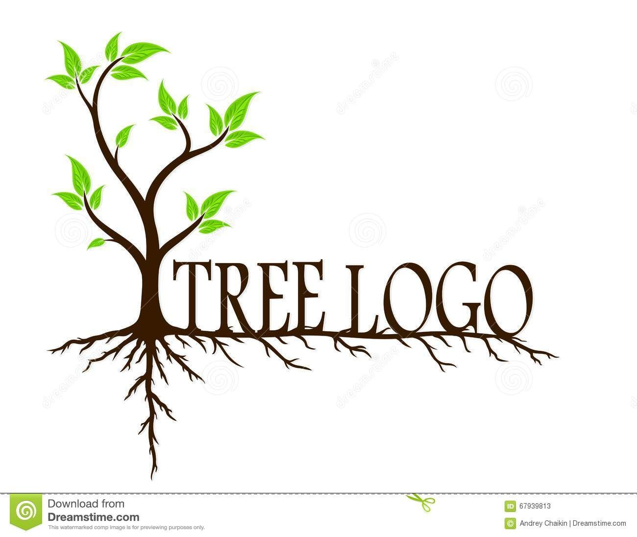 Tree logo green with. Roots clipart root system