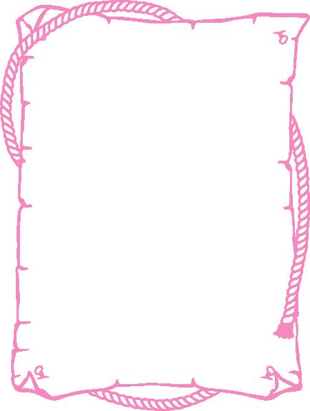 Rope border png. Pink clip art at
