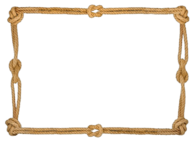 Picture frame molding hemp. Rope border png