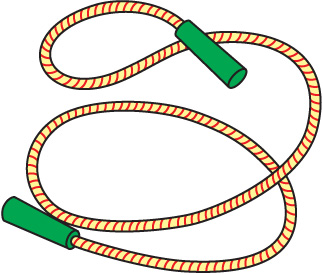 Skipping . Rope clipart