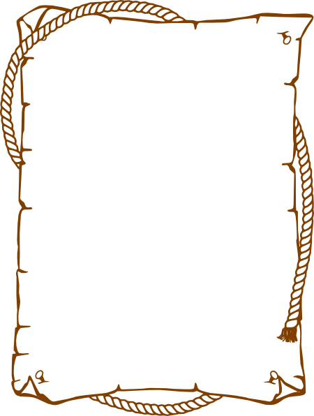 Western clip art at. Rope frame png