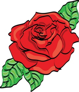 Rose clipart bloom. Red image