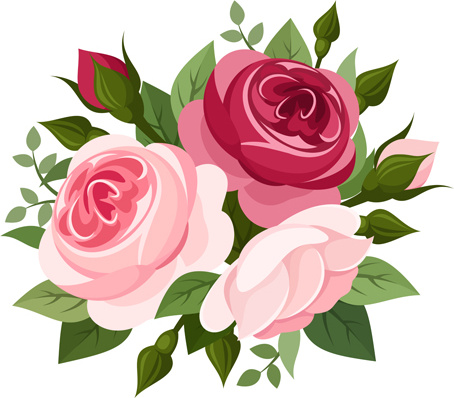 Free flower bunches cliparts. Rose clipart bunch