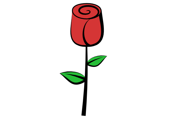 Rose clipart easy. Simple free download on