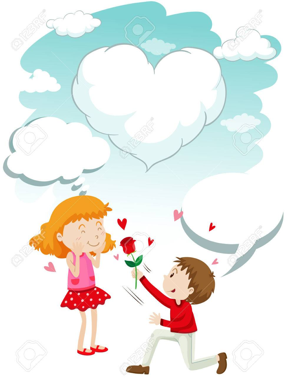 Free download clip art. Rose clipart giving
