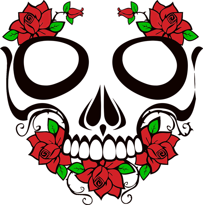 Collection of evil beauty. Rose clipart head