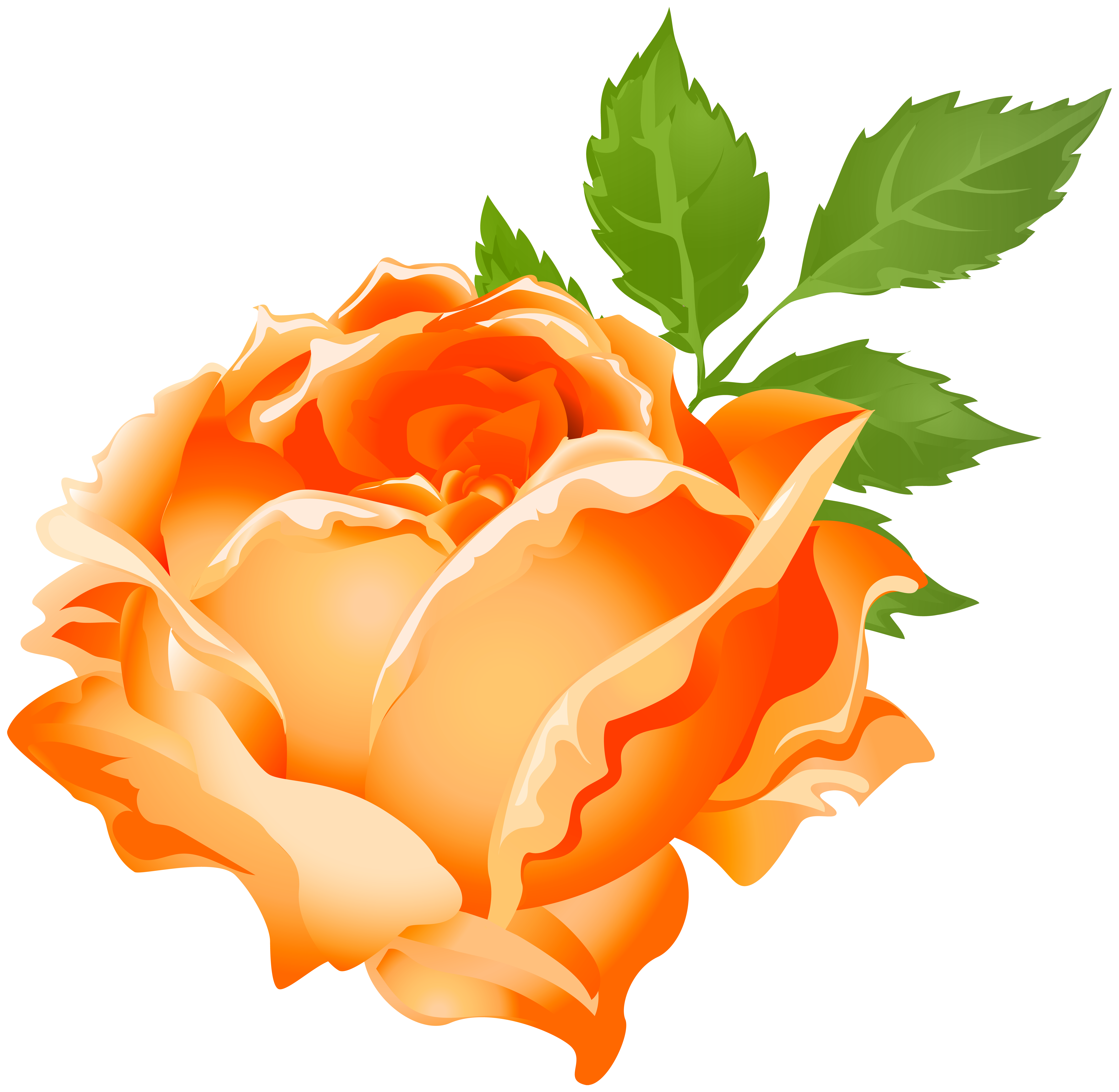 Orange png clip art. Rose clipart stick
