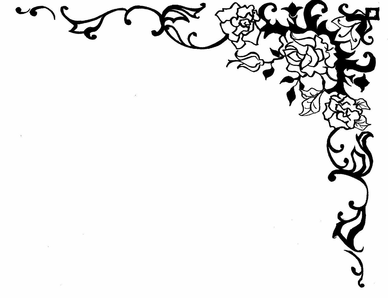 Rose clipart swirl. Border design panda free