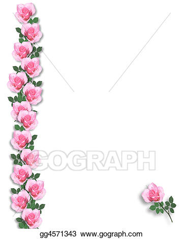 Rose clipart template. Pink roses background or