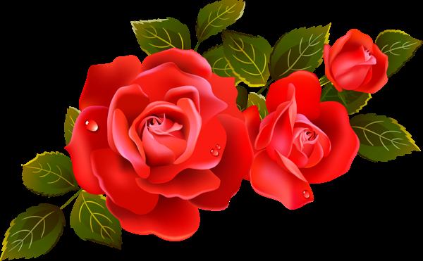 Clipart roses.  red rose flower