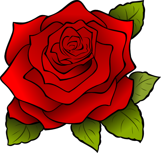 The top best blogs. Rose clipart