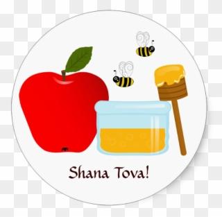 Rosh hashanah clipart apple honey. Bee and full size