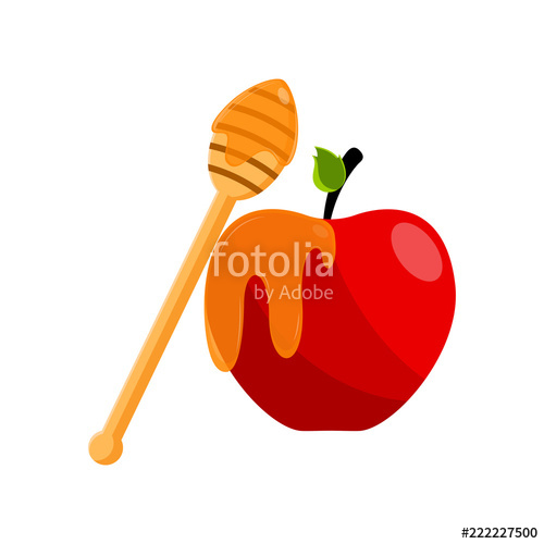 Rosh hashanah clipart apple honey. Fruit with concept stock
