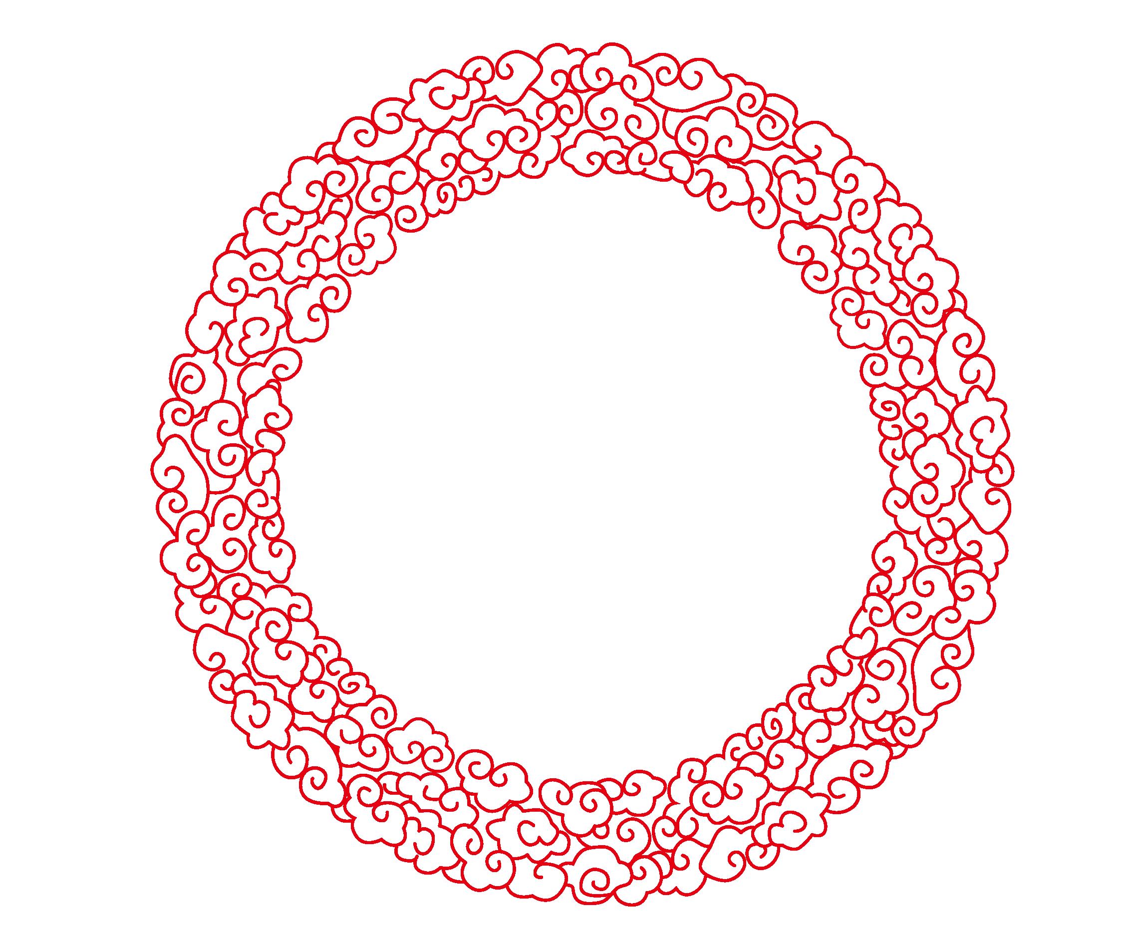 Round border png. Circle euclidean vector chinese