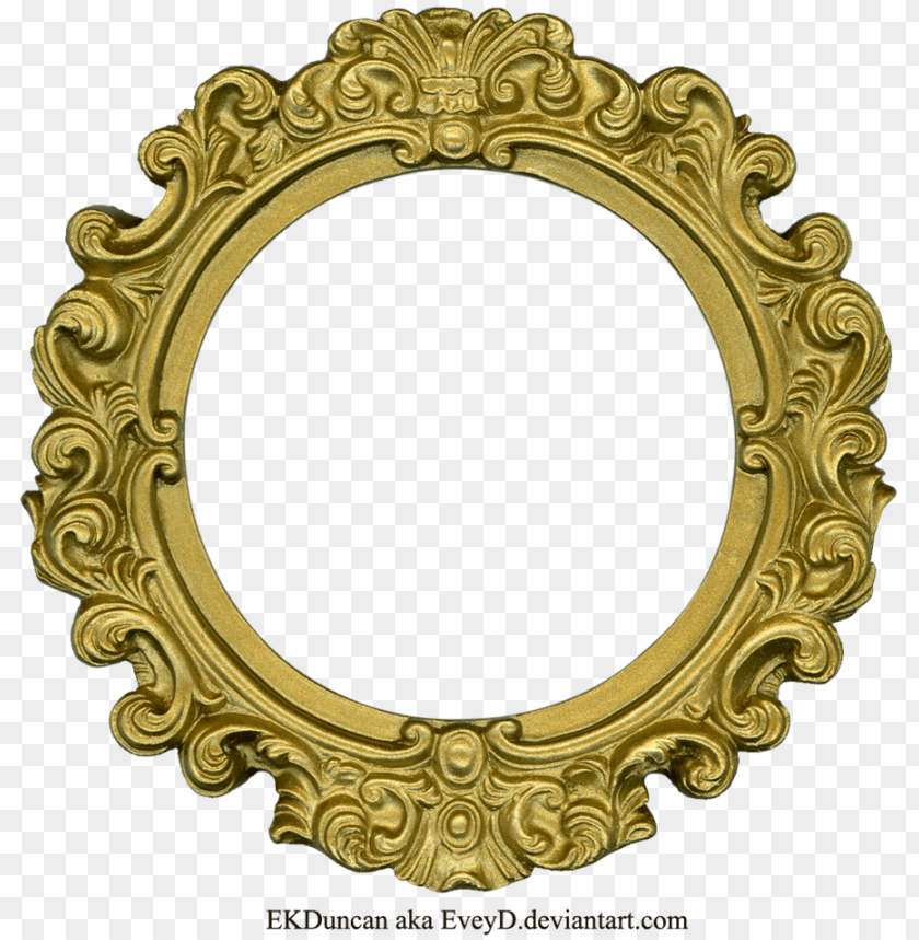 Golden free images toppng. Round frame png