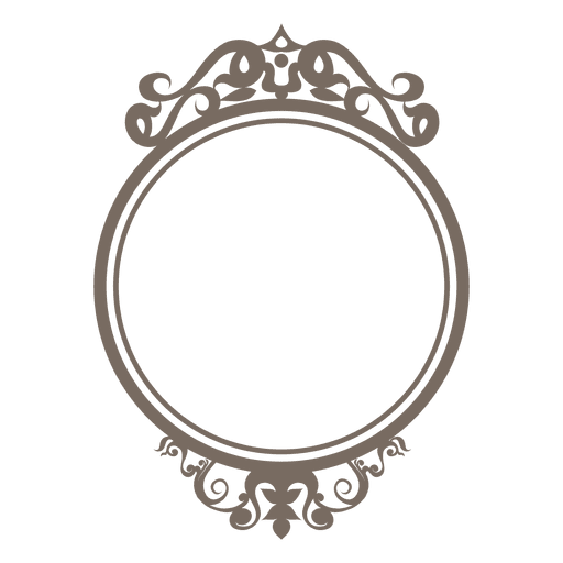 Round frame png. Decorative ornate transparent svg