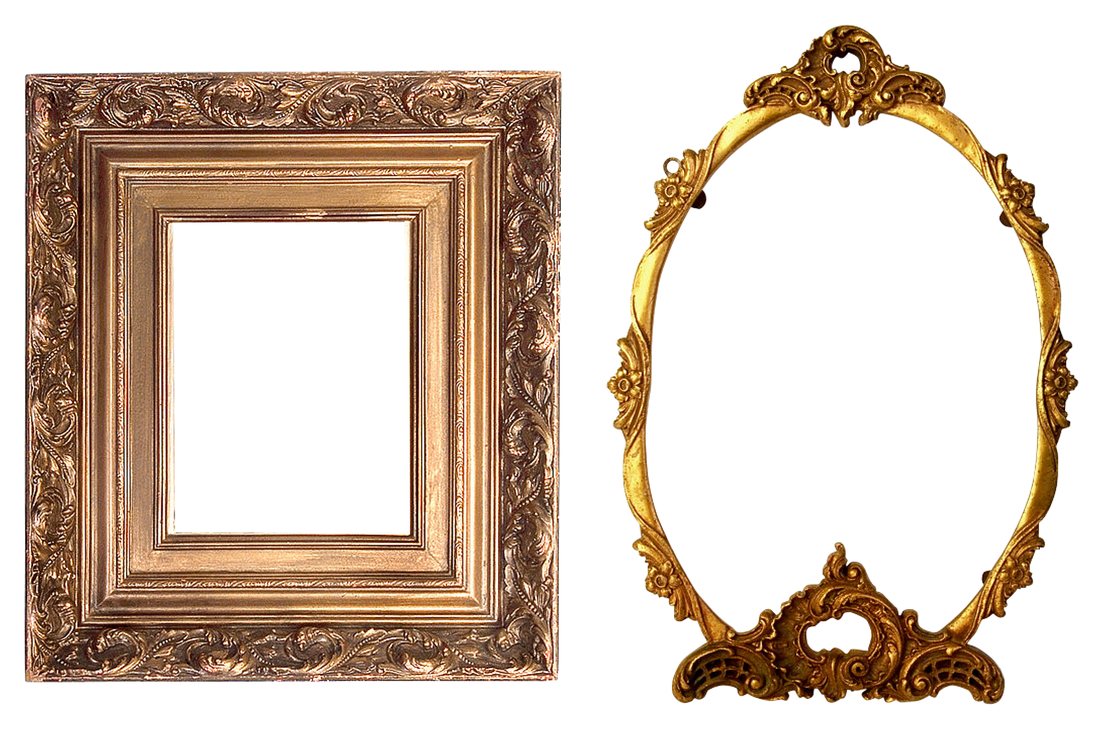 Round gold frame png. Free photo golden texture