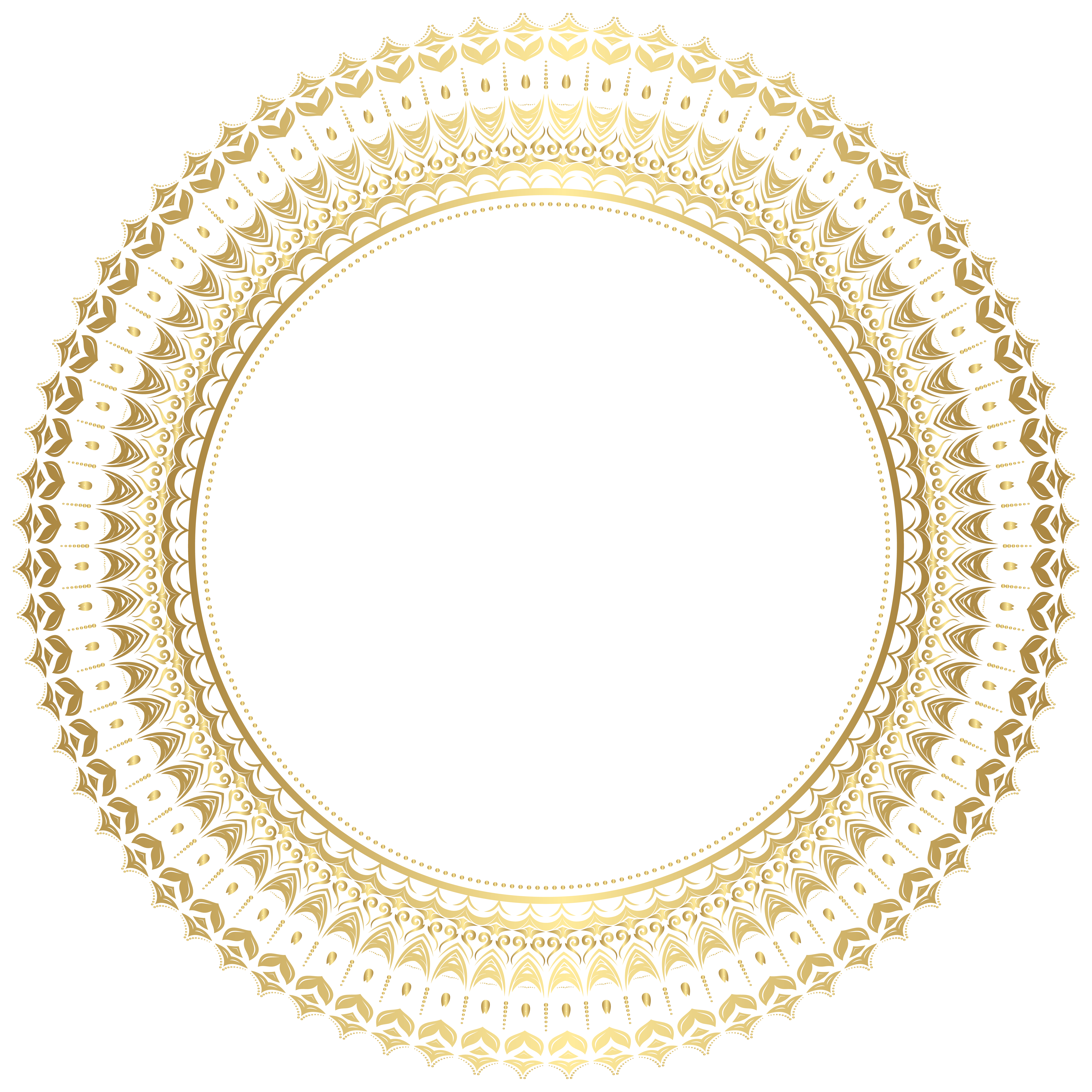 Round gold frame png. Border clip art gallery