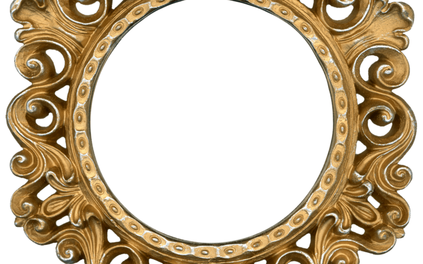 Round gold frame png. Frames the best of