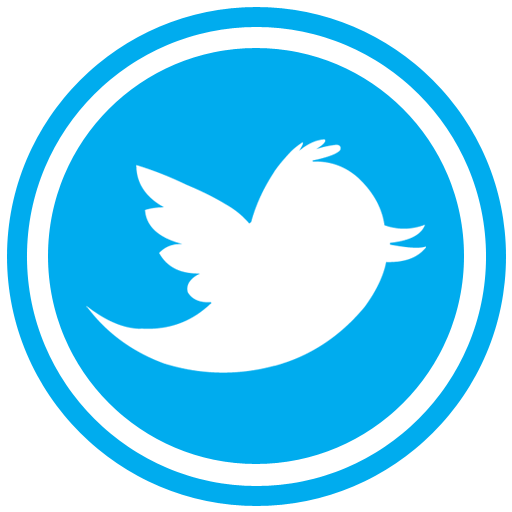 New social media icons. Round twitter icon png