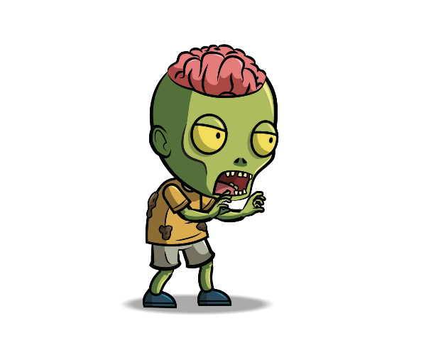 Royalty free png images. Anime zombie game art