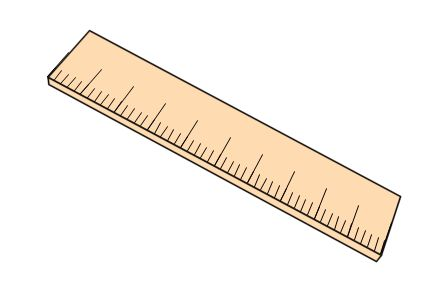 Ruler clipart.  foot