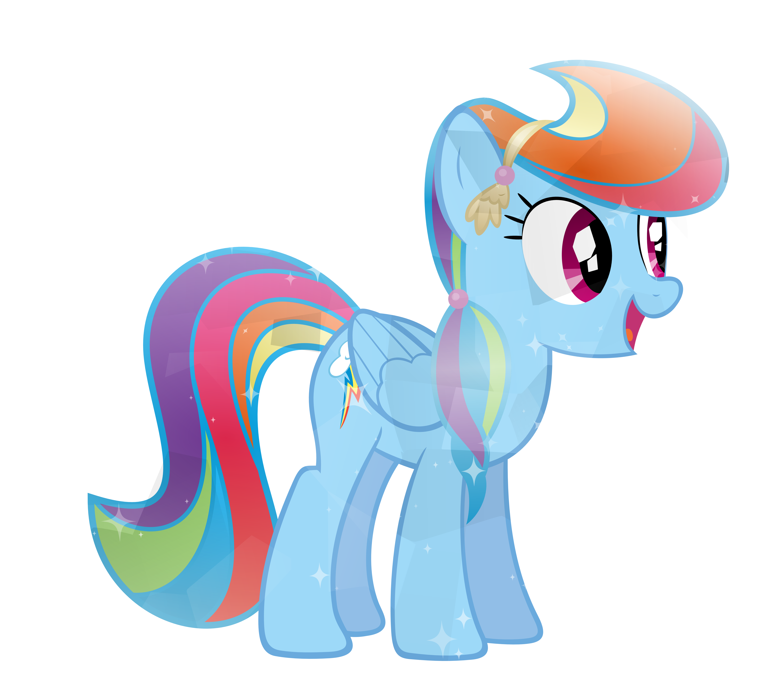 Rainbow dash by sairoch. Clipart ruler crystal