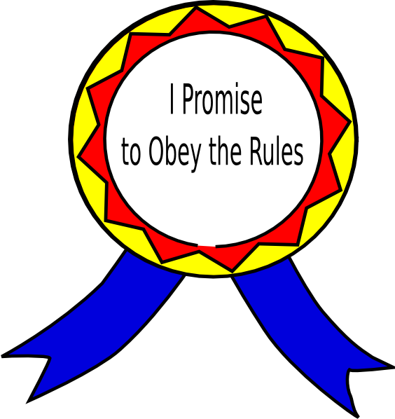 Obey the badge clip. Rules clipart