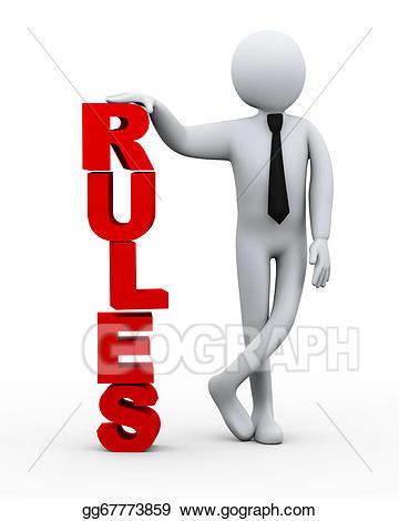 Stock illustrations d businessman. Rules clipart