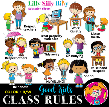 Rules clipart. Classroom black and white