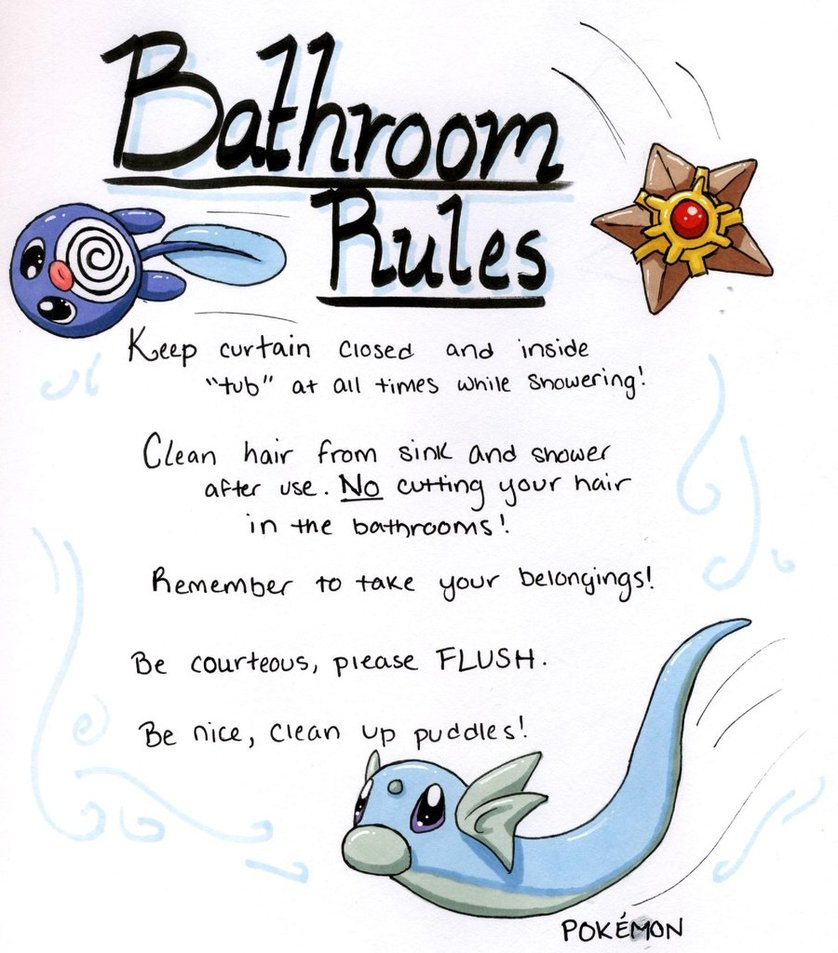 Toilet bathroom pencil and. Rules clipart