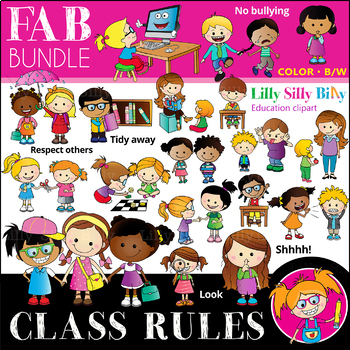 Classroom fab bundle b. Rules clipart
