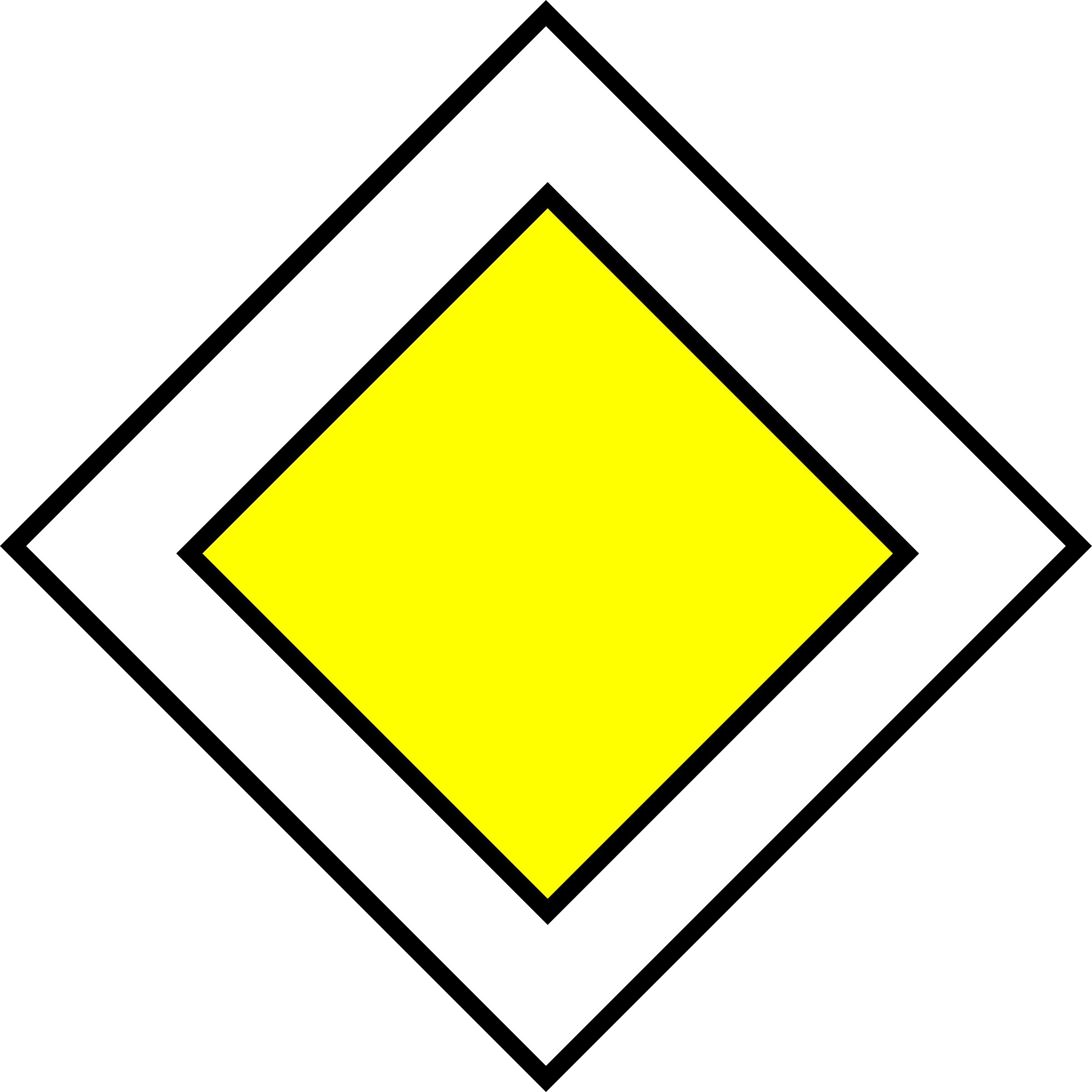 Road traffic sign big. Rules clipart priority