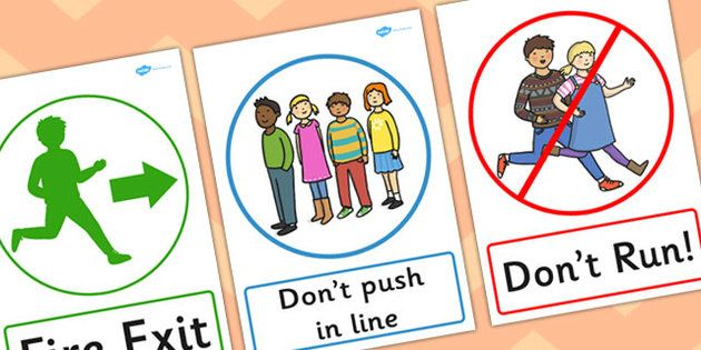 Rules clipart rule procedure. Safety posters classroom