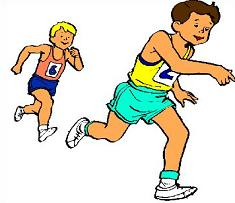 Free track runners tags. Runner clipart