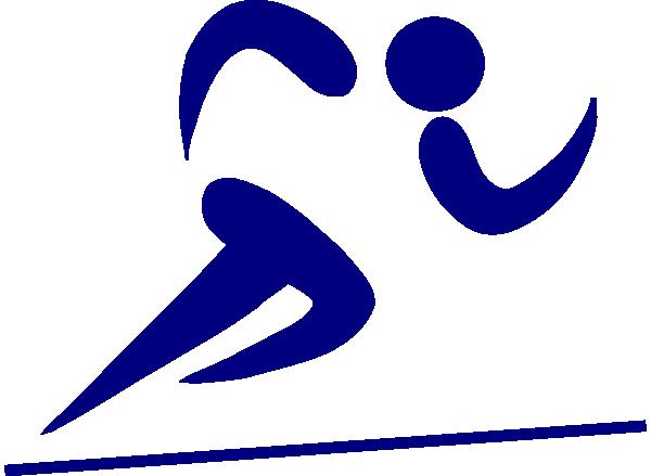 Runner clipart. Blue clip art at