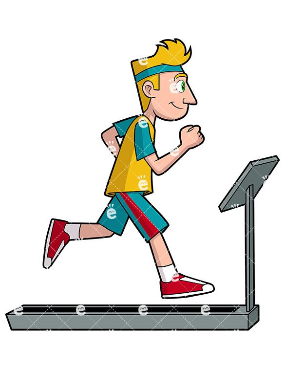 A man running on. Runner clipart cardio exercise