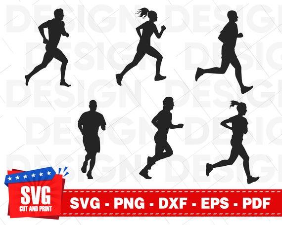 Running svg run bundle. Runner clipart cardio exercise