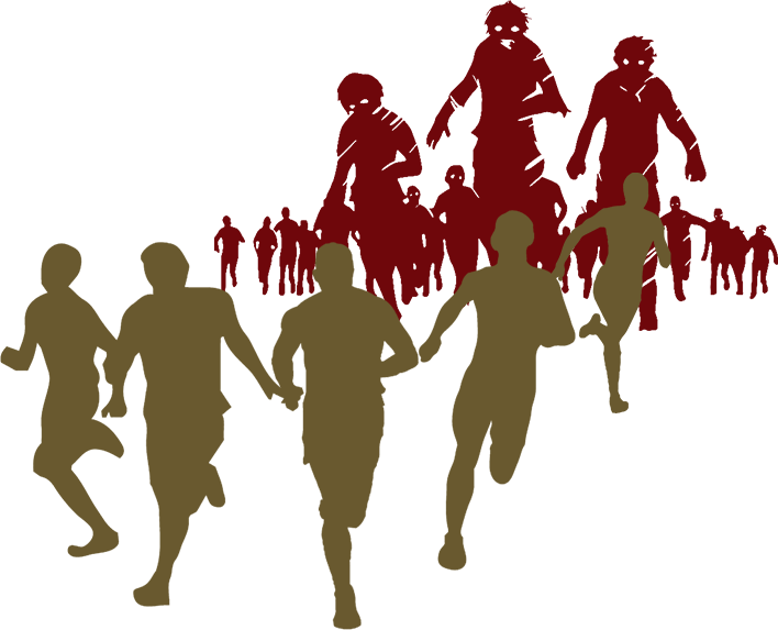 Escape from idea to. Zombie clipart zombie crowd