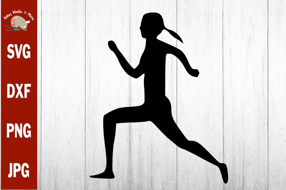 Girl silhouette clip art. Runner clipart female runner