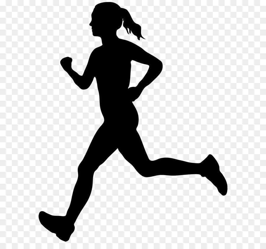 Free silhouette download clip. Runner clipart female runner