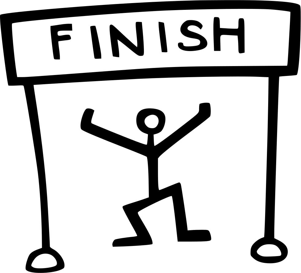 Runner finish line runner