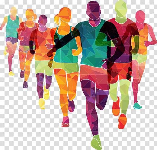 Running people the color. Runner clipart london marathon