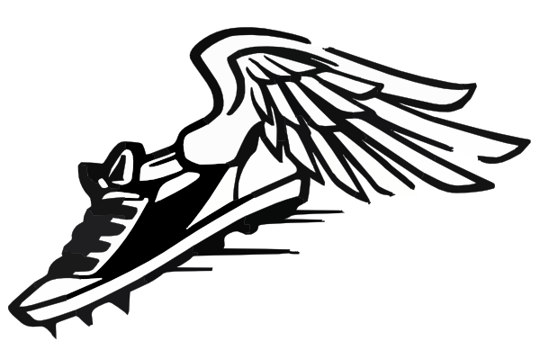 Free spikes with wings. Track clipart track shoe