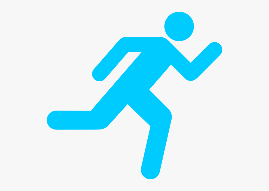 Runner clipart transparent background. Person running cartoon free