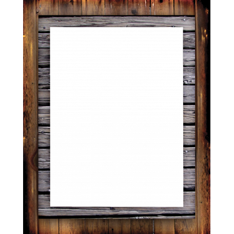 Rustic wood frame png. Graphic by gina jones