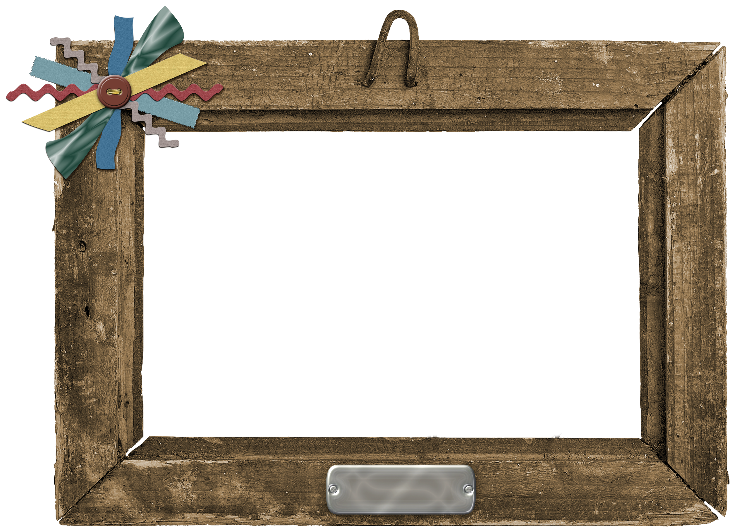 Rustic wood frame png.  for free download